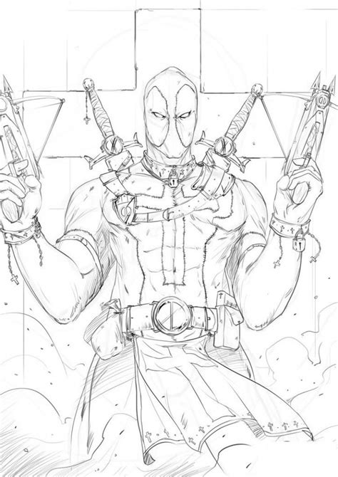 Coloring Comic by Free Printable Deadpool Coloring Pages For Comic