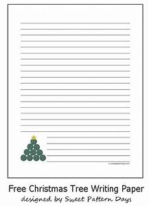 Free christmas tree lined writing paper holidays pinterest for Christmas paper to write letters on