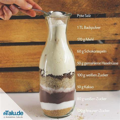 backmischung im glas verschenken  leckere rezepte