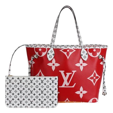 louis vuitton neverfull exclusive limited edition monogram giant mm  pink  red coated