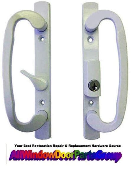 guardian sliding patio door handle set replacement parts key lock truth window hardware