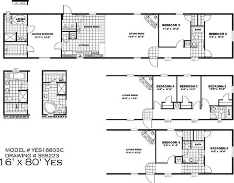 16x80 Mobile Home Floor Plans by Clayton Yes Series Mobile Homes 1st Choice Home Centers