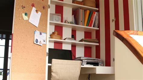la bonne idee  bureau dans le placard