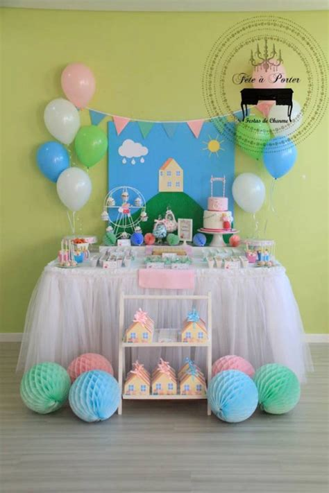 peppa pig themed birthday via kara s ideas karaspartyideas the place for all