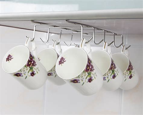 Cabinet Mug Rack by Cabinet Shelf Mug Cups Storage Rack Metal Holder