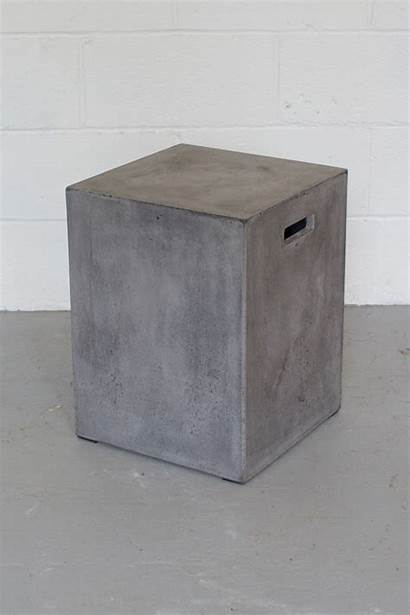 Concrete Stool Square Modern Chairs Accent Furniture