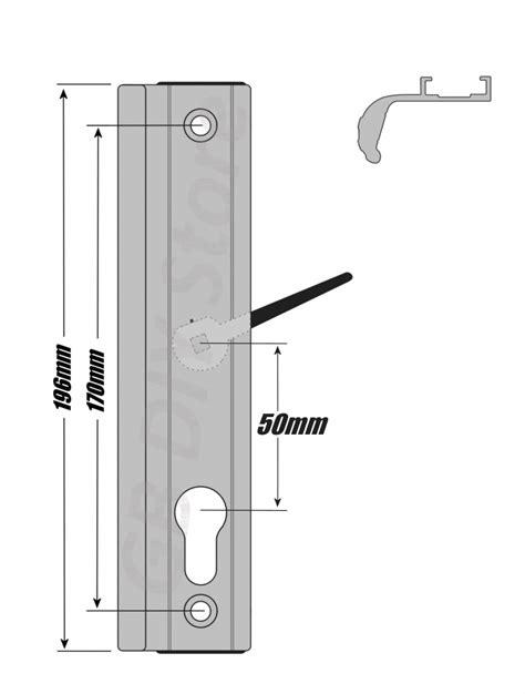 fullex upvc sliding patio door handle set 50mm pz white ebay