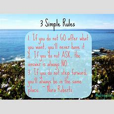 Motivation Monday  3 Simple Rules Of Life  Nora Roberts  Ailis Garcia  Tv Host, Entrepreneur