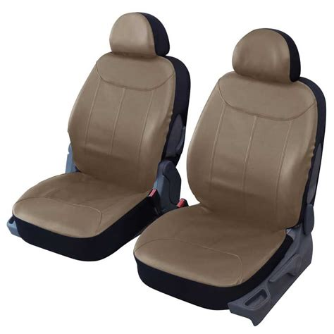 prevention routiere siege auto housses de sièges avant auto simili cuir beige elite