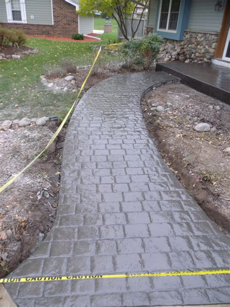 colored concrete walkways decorative colored sted concrete milwaukee waukesha wi