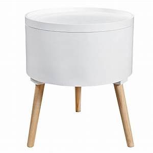 Loungemöbel Mit Stauraum : design beistelltisch multi talent rund mit abnehmbarem ~ Michelbontemps.com Haus und Dekorationen