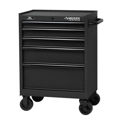 home depot tool cabinet husky 27 in 5 drawer tool cabinet textured black