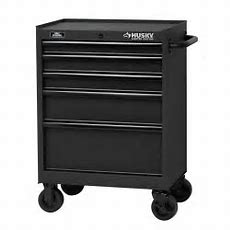 Husky 27 In 5drawer Tool Cabinet, Textured Black