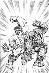 Marvel Hulk Coloring Pages Heroes Superman Printable Super Monster Characters Classic Comic Adults Sheets Battle Books Colouring Seems Combat Comics sketch template