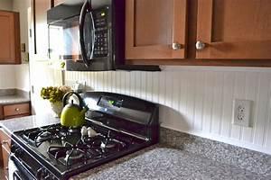 Liz Marie Beadboard Backsplash Beadboard Kitchen Cabinets Ideas
