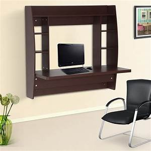 HomCom Office Computer Table Floating Wall Mount Desk ...