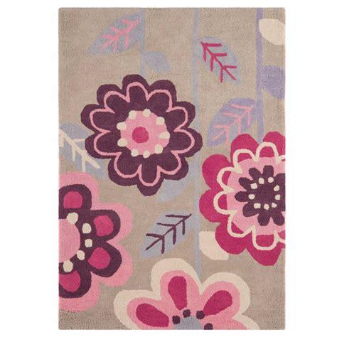 tapis pour chambre fille tapis design à fleurs en coton pour chambre de fille par