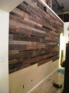 these guys used reclaimed wood to make a beautiful accent With what kind of paint to use on kitchen cabinets for how to make wood plank wall art