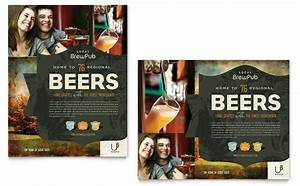 letterhead examples design brewery brew pub poster template design