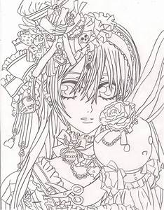 vampires coloring pages - zero vampire knight coloring pages