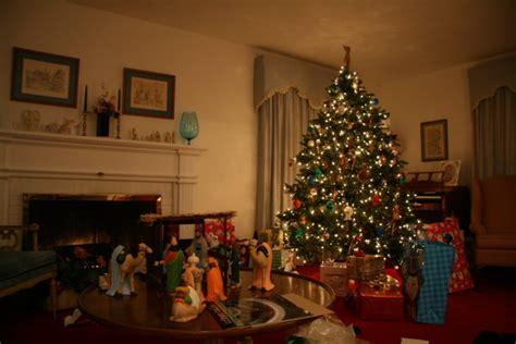 family room christmas tree photo