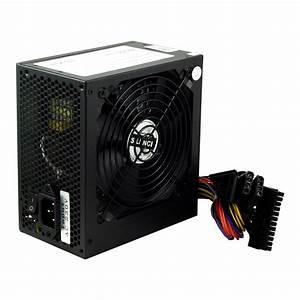 Black 500w 12cm Silent Fan Pc Power Supply Atx Computer