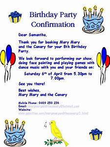 how to write a party invitation cloudinvitationcom With birthday party letter
