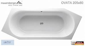 Sechseck Badewanne 180x80 : mauersberger badewanne ovata asymmetrisch 205 x 80 cm sechseck acryl 6 eck rechts r ~ One.caynefoto.club Haus und Dekorationen