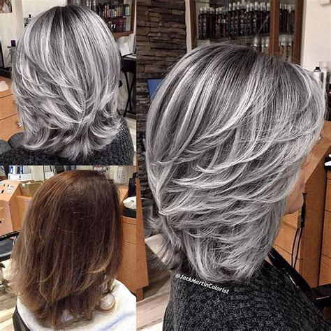 striped hair styles image result for silver and black striped hair 7788