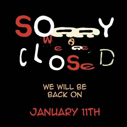 Closed Sorry Template Poster Templates Postermywall Typography