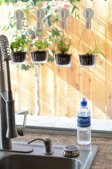 easy   diy indoor hanging herb garden   kitchen