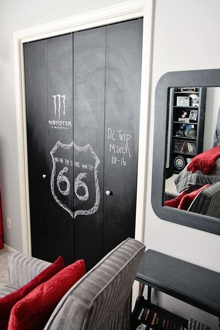 chalkboard paint closet doors yes baby space