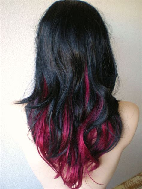 Ombre With Pink And Black Hair Hairstyles In 2019 Dyed