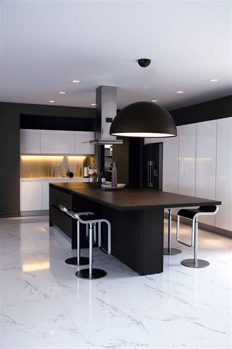 kitchen island contemporary black white kitchen island breakfast table baan citta