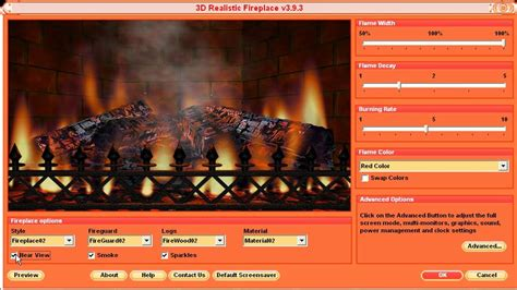 Realistic Fireplace Screensaver - 3d realistic fireplace screensaver review