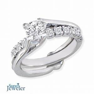 a traditional diamond bridal set with a twist With interlocking wedding ring sets