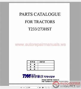 Tym Full Set Parts Manuals  U0026 Operator Manuals Dvd
