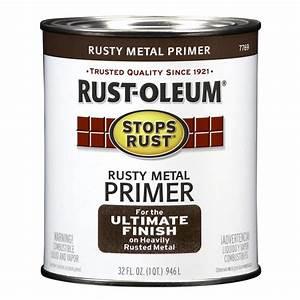 Shop rust oleum stops rust rusty red flat oil based enamel for Rustoleum exterior metal paint