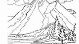 Coloring Mountain Pages Landscape Scenery Printable Adults Mountains Adult Getcolorings Print Rocky Road Pa Getdrawings Colorings sketch template