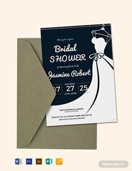 printable bridal shower invitation template word