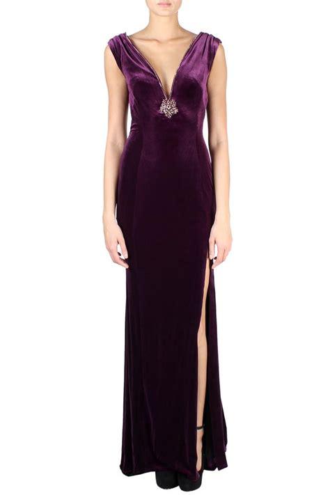 jovani velvet maxi dress purple women dresses