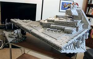 This LEGO Star Destroyer has a full interior, complete ...