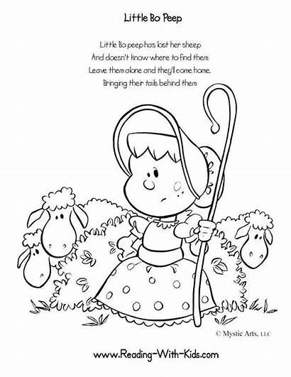 Nursery Rhyme Rhymes Coloring Pages Crafts Stories