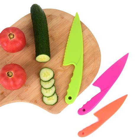 knife kitchen plastic safe cooking nylon pieces colors knives children