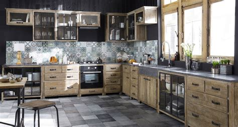 meubles de cuisine independant  ilot maison du monde