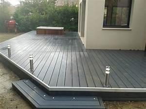 Terrasse En Composite : terrasse en composite sur pilotis ~ Melissatoandfro.com Idées de Décoration