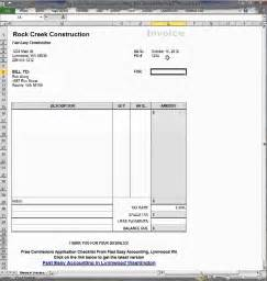 Contractor Invoice Template Excel Free Contractor Invoice Template On Excel How It Works By Fast Easy Accounting
