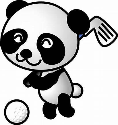 Panda Golf Clipart Svg