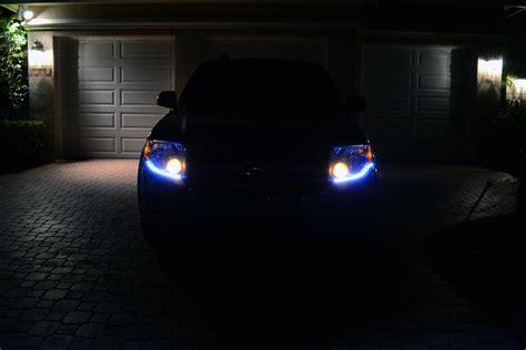 ford escape custom led headlight design