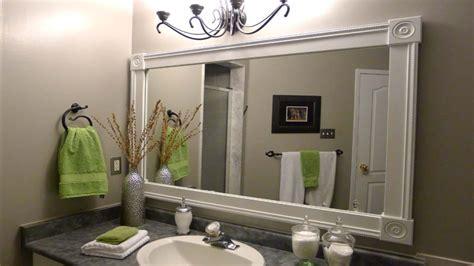 White Vanity Mirror, Diy Bathroom Mirror Frame Ideas